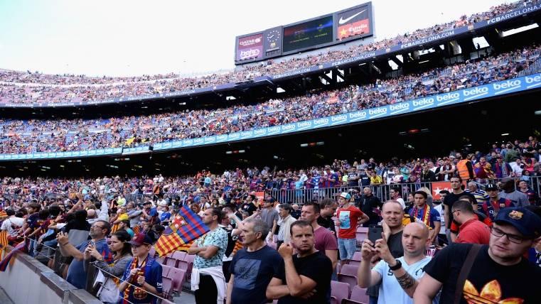 Máxima seguridad en el Camp Nou para el Barça-Betis