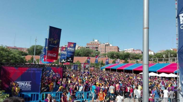 Todo preparado para la Fan Zone de la Copa del Rey en Madrid