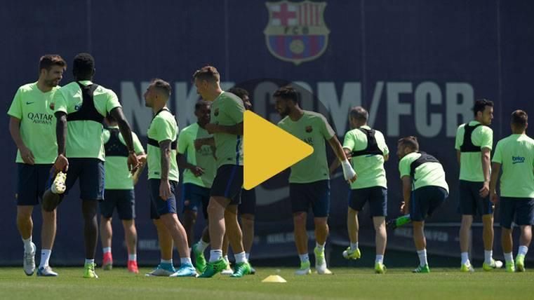 Último entreno del Barça antes de la final sin los 4 lesionados