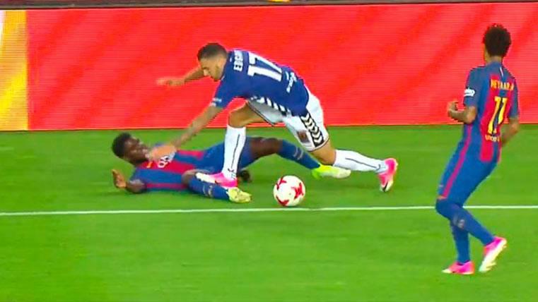 Clos Gómez perdonó la roja a Edgar tras un pisotón a Umtiti
