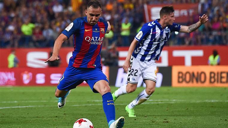 Paco Alcácer, goleador en su primer título con el FC Barcelona