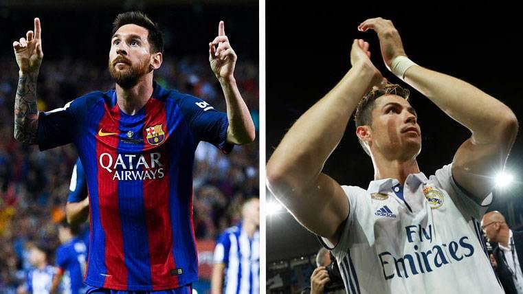 La comparación de Messi y Cristiano con 30 años