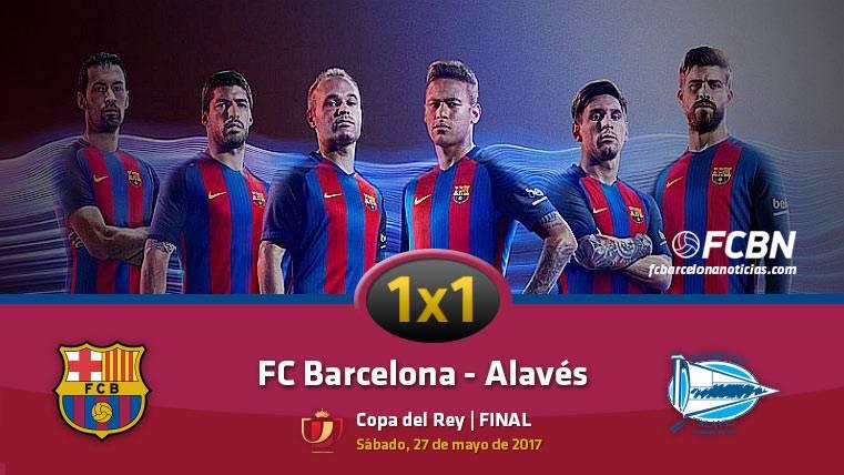 Este es el 1x1 del FC Barcelona frente al Alavés (Final de Copa)