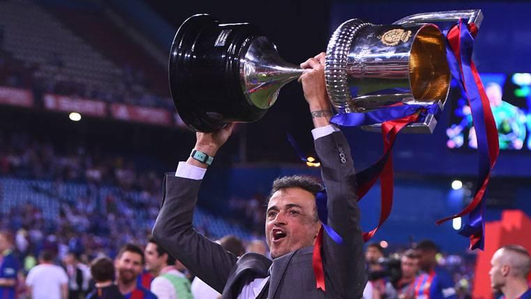 Inusual respuesta de Luis Enrique a la afición del Barça