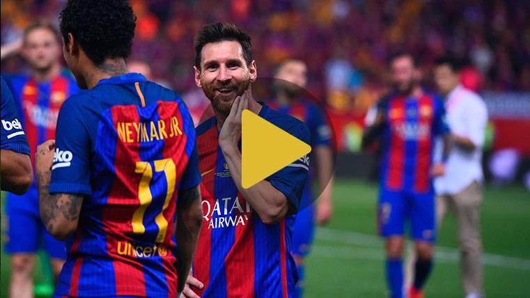 El viaje de vuelta del Barça: Felicidad, risas y despedidas