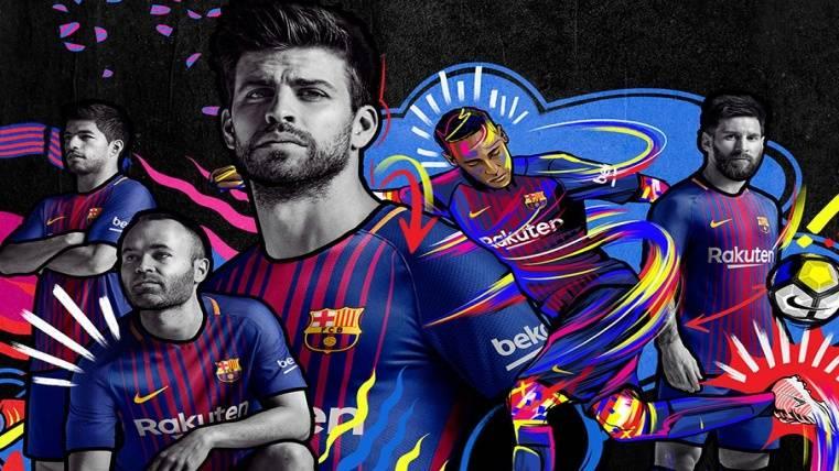 Presentada oficialmente la nueva equipación del Barcelona