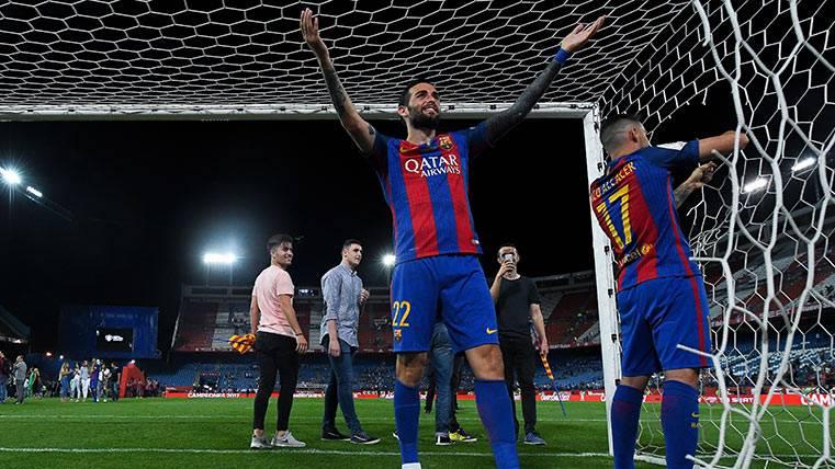 """El """"luchador"""" Aleix Vidal confirmó que se queda en el Barça"""