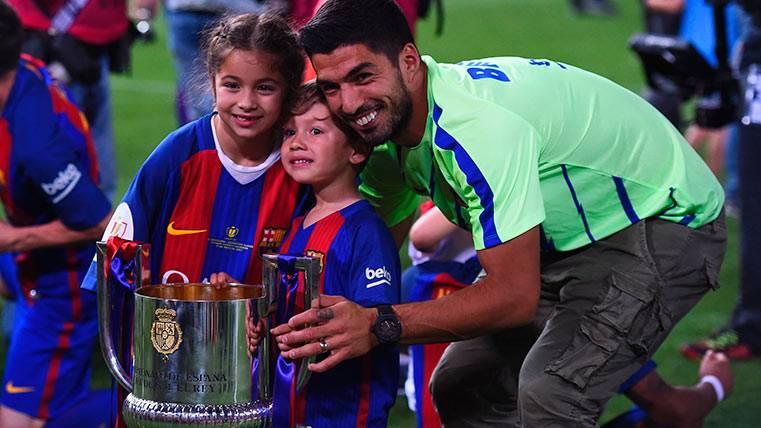 Así celebró Luis Suárez la Copa del Rey el pasado domingo