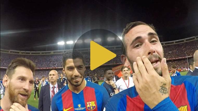 Mira la celebración de la Copa grabada por Aleix Vidal