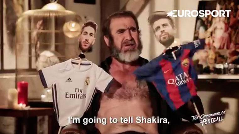 Éric Cantoná se cachondea de la relación Ramos-Piqué