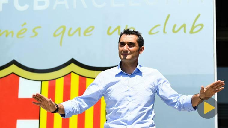 EN DIRECTO: Sigue la presentación de Valverde con el Barça