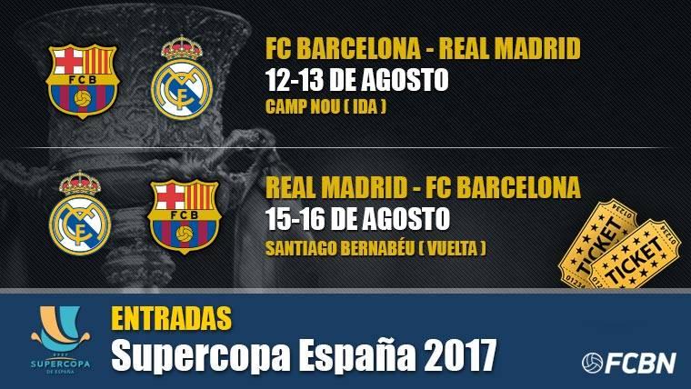 Entradas Supercopa de España 2017: Barcelona vs Real Madrid
