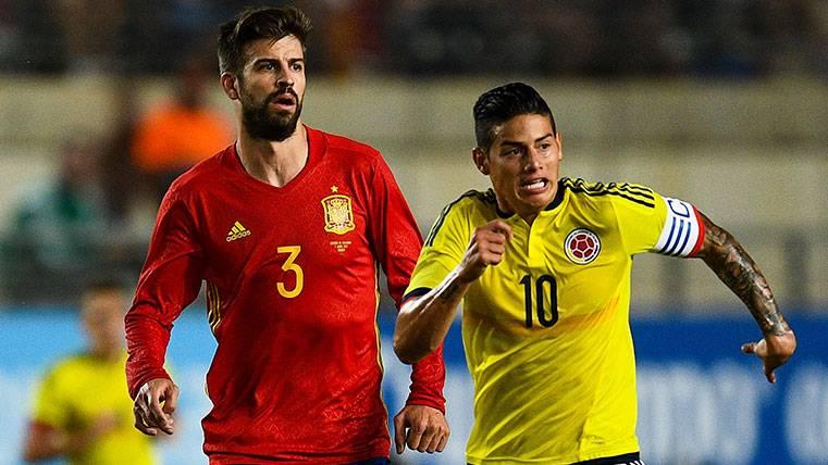 El amistoso entre España y Colombia, de máxima intensidad