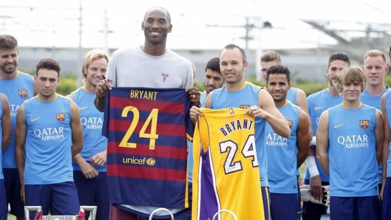 Kobe visitó la gira de pretemporada 2015 del Barça en EEUU