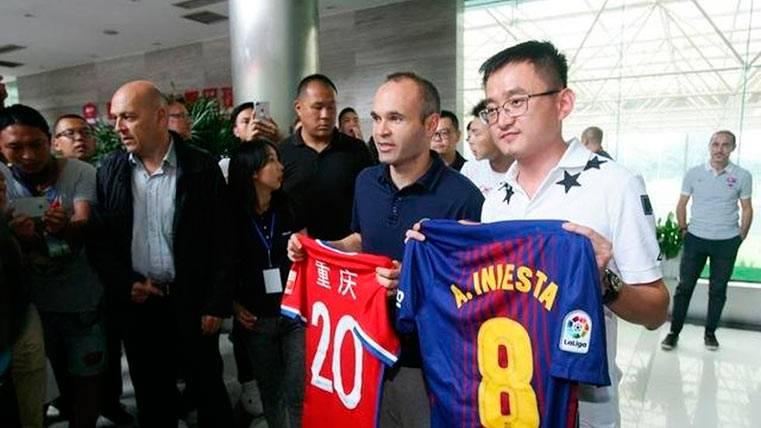 Andrés Iniesta también levanta pasiones en la China Popular