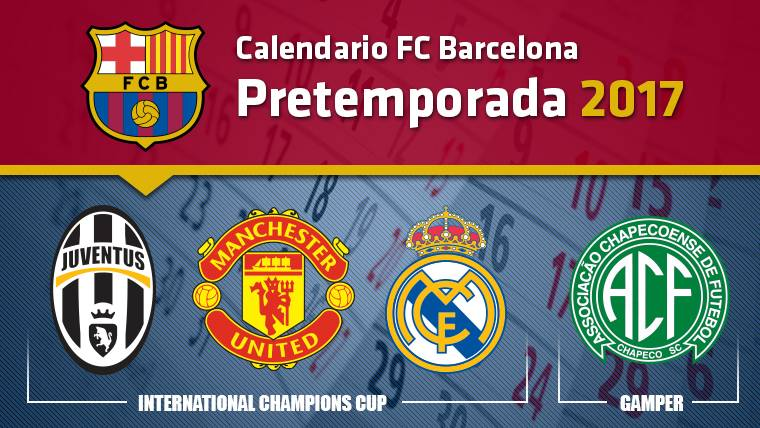 Calendario FC Barcelona - Pretemporada 2017