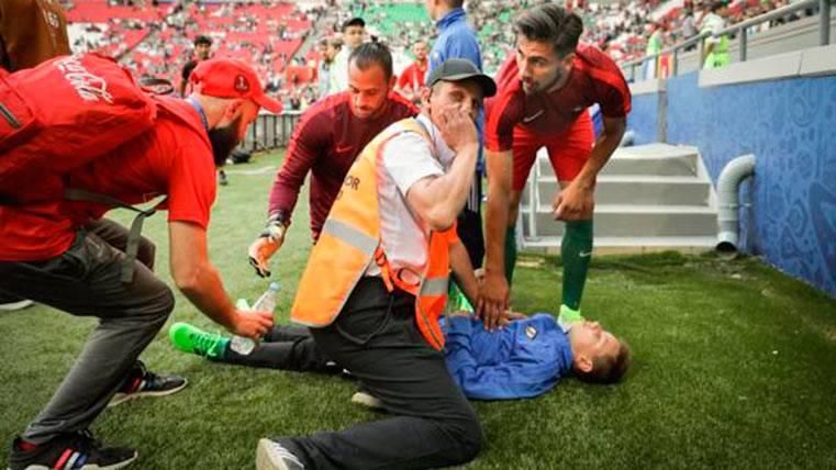 Discreto debut de André Gomes con Portugal ante México
