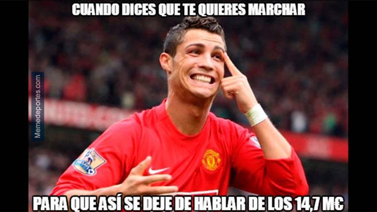 """El """"meme"""" que retrata todo el asunto de Cristiano Ronaldo"""