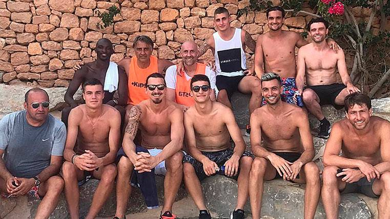"Mientras tanto Marco Verratti ""ficha"" a Zlatan Ibrahimovic"