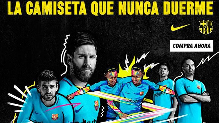 """Así es """"la camiseta que nunca duerme"""" del FC Barcelona"""