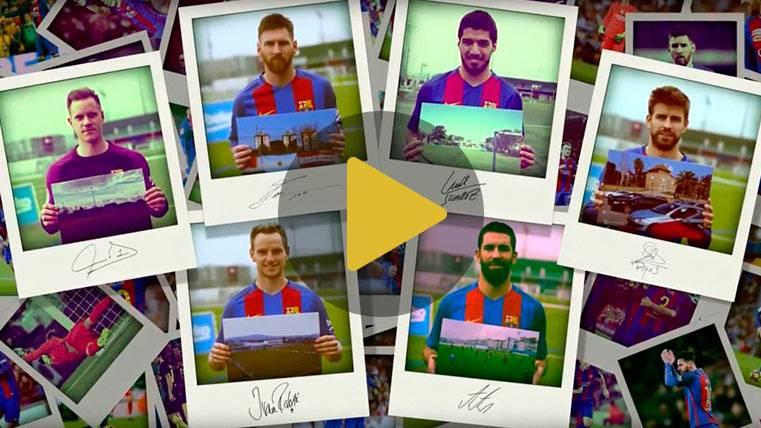 Messi, Piqué o Luis Suárez descubren sus primeros campos