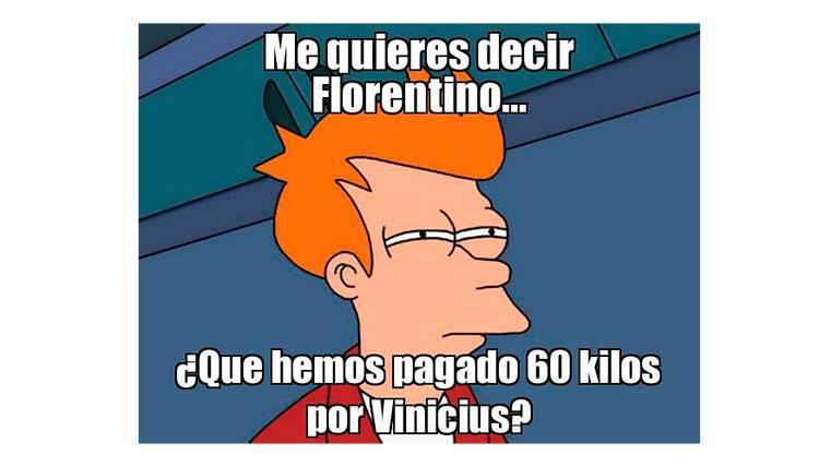 Los 'memes' se ríen de un Vinicius, de ridículo en ridículo