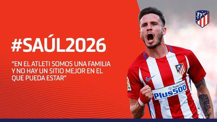 OFICIAL: Saúl Ñíguez renueva por el Atlético hasta 2026