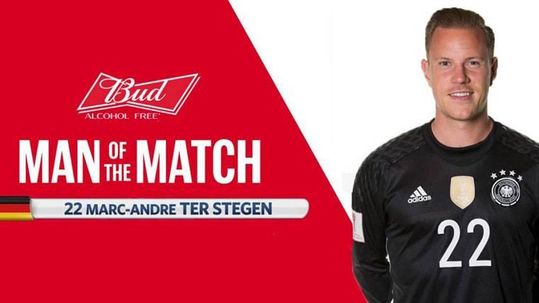 """Ter Stegen, """"MVP"""" de la final de la Copa Confederaciones"""