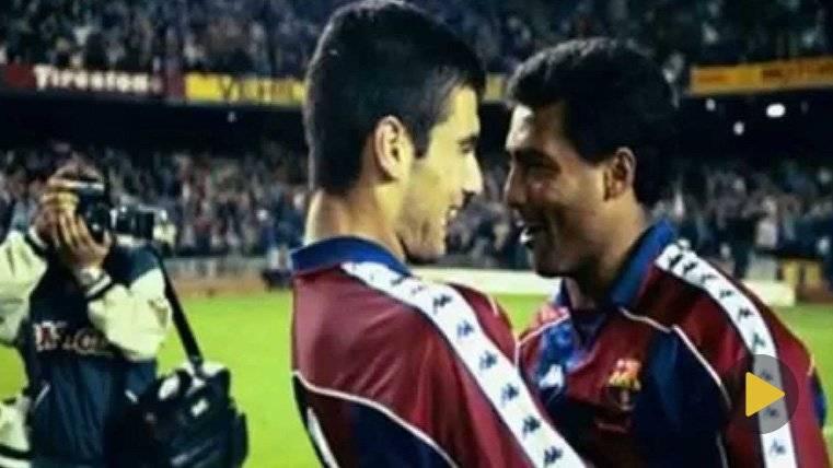 La conexión entre Guardiola y Romario era de fantasía