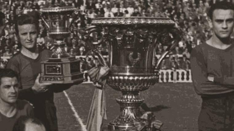 Se cumplen 68 años de la primera Copa Latina del Barça