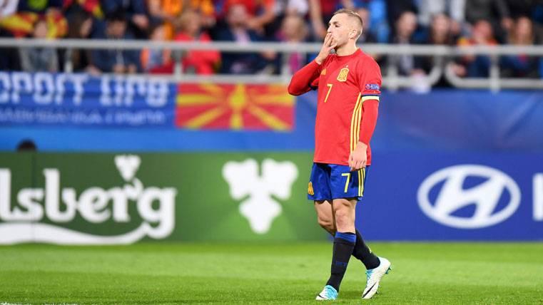 Deulofeu sufre una pubalgia y regresa antes a Barcelona