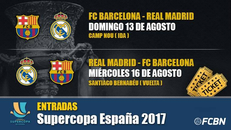 Entradas Supercopa de España 2017 - FC Barcelona vs Real Madrid