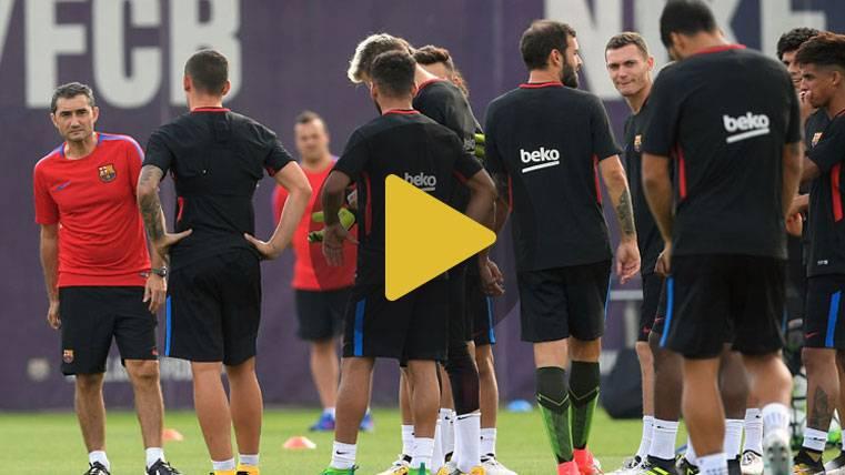 Rafinha y Deulofeu, bajas en el entreno del FC Barcelona