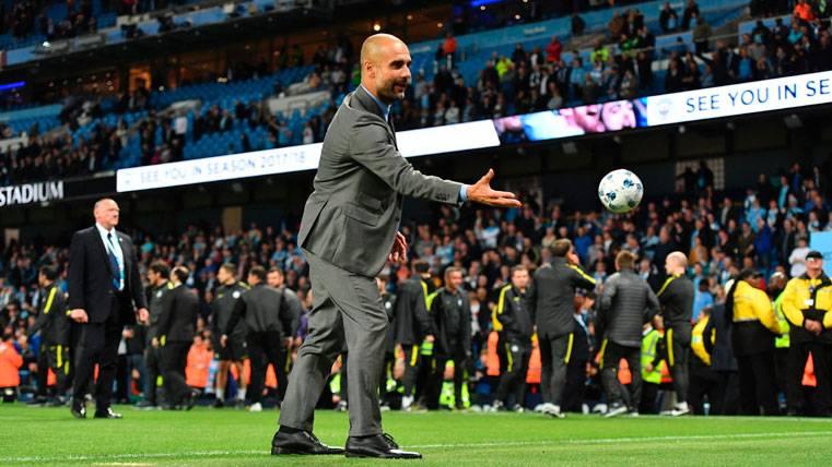 Pep Guardiola, después de un partido de Champions con el City