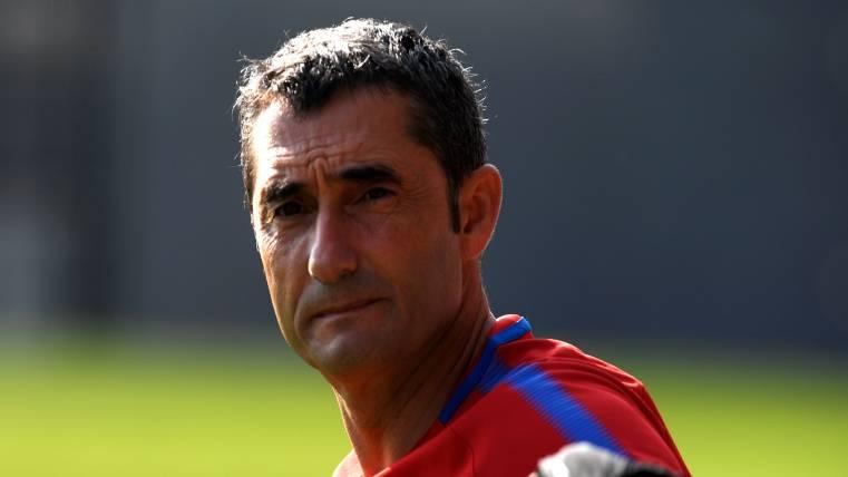 Valverde, reflexivo en un entrenamiento