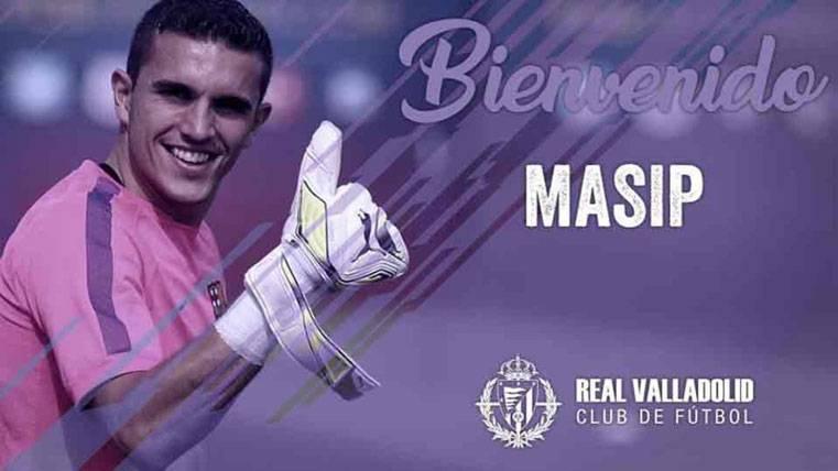 Jordi Masip, presentado como nuevo portero del Valladolid