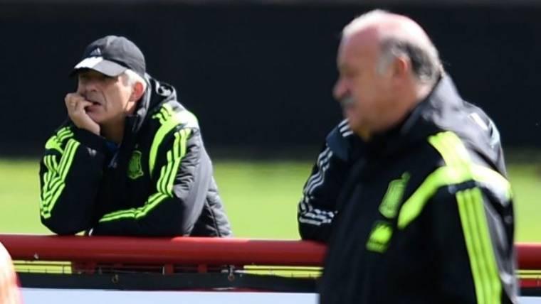 """Del Bosque defiende a su """"amigo"""" Ángel María Villar"""