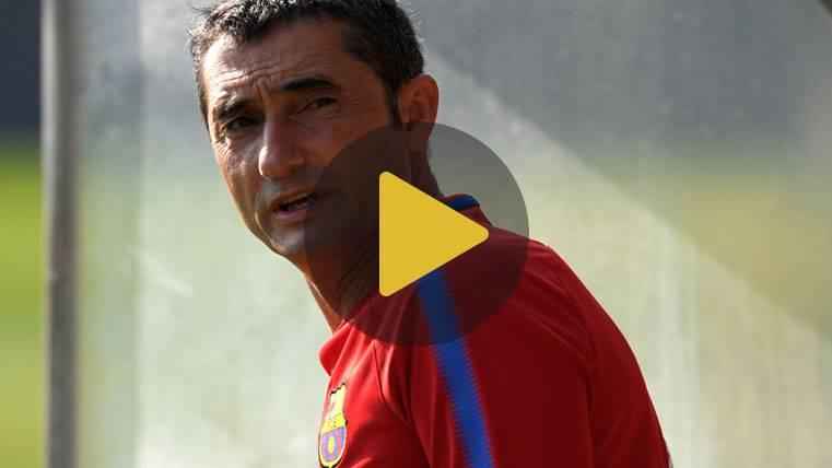 Valverde suspende el entreno matutino del FC Barcelona