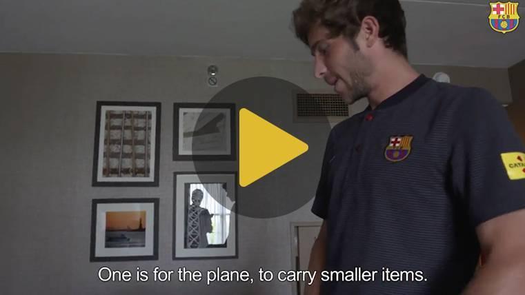 ¿Qué llevará Sergi Roberto en su maleta de viaje?