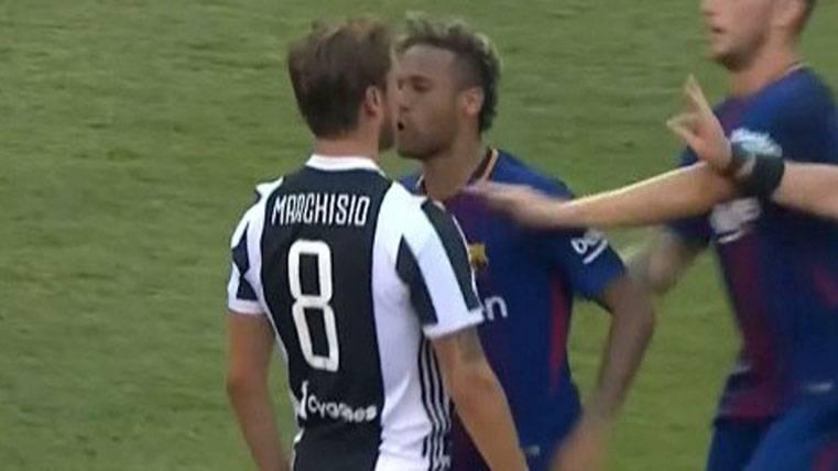 Pique de Neymar con Marchisio: ¿Qué le dijo el italiano?