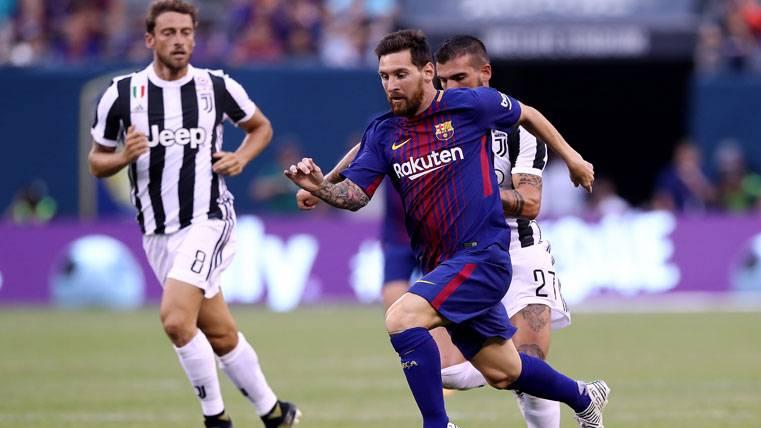 Messi, fresco como una rosa en sus 45 minutos ante la Juve