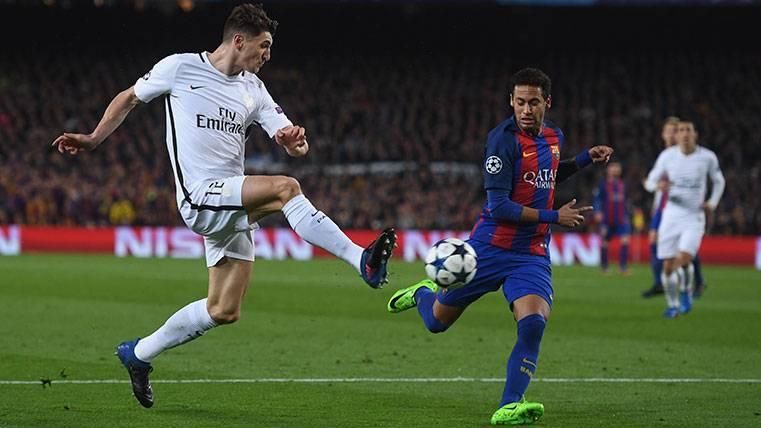 Thomas Meunier contesta a Piqué por el fichaje de Neymar