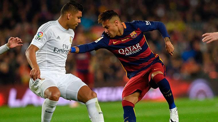 Casemiro le desea suerte a un Neymar al que ve en el Madrid