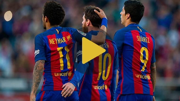 Messi, Suárez y Neymar en un divertido reto, ¿quién ganará?
