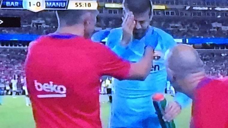 SUSTOS: Arda y Piqué sufrieron la dureza de los de Mourinho