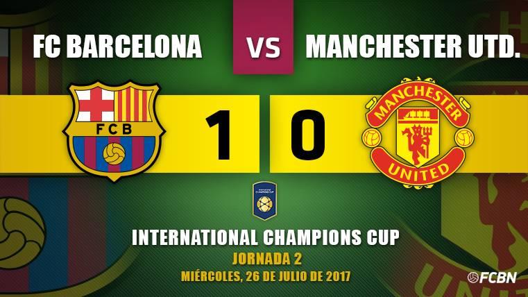 Un gol de Neymar le vale al Barça para ganar al United de 'Mou'