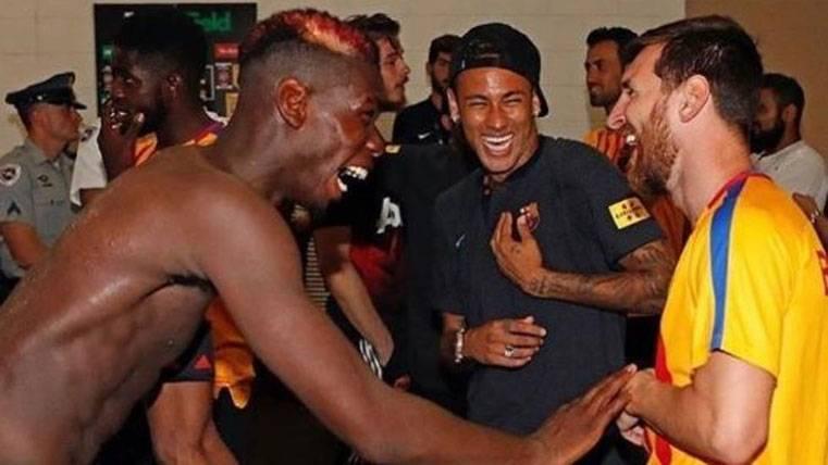 Messi, Pogba y Neymar, tan 'amigos' tras el Barça-United