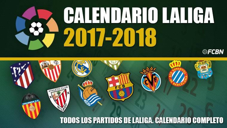 Calendario De La Liga Espanola De Futbol.La Liga Calendario Liga Espanola Futbol 2017 2018