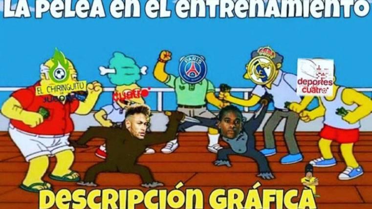 Los mejores 'memes' de la pelea de Neymar con Semedo