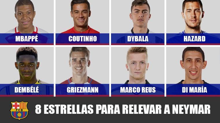 Las estrellas que podrían relevar a Neymar en el Barcelona